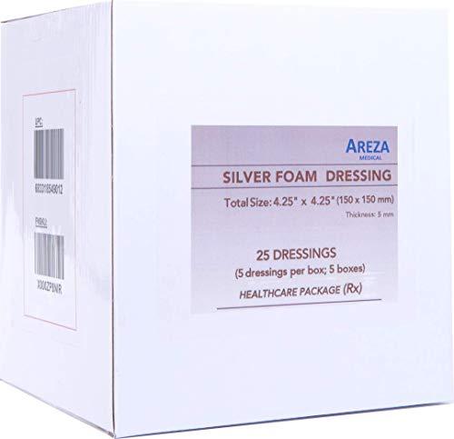 Silver Foam Dressing Sterile 4.25