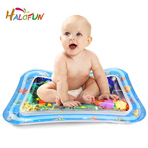 HALOFUN Inflatable Playmat, 27.5x20 Inflatable Tummy Time Premium Water Mat for Children and Infant