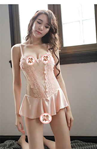 BranXin - Halloween Sexy Cute Princess Harness Skirt Sexy Lingerie Transparent Sleepwear Porn Dress Erotic Babydoll Sexy Underwear Costumes Women [Pink M]
