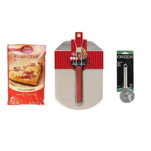 deluxe-pizza-bundle-with-1-betty-crocker-pizza-crust-mix-plus-1-tablecraft-stainless-steel-pizza-pee