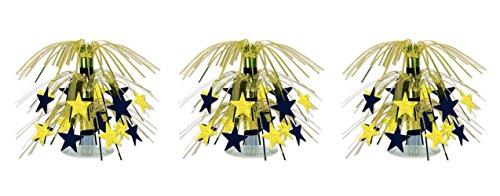 Beistle S54669BKGDAZ3 Star Mini Cascade Centerpieces 7.5