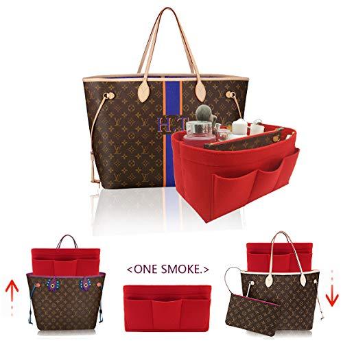 LEXSION Felt Handbag Organizer,Insert purse organizer Fits Speedy Neverfull 8001 Red M