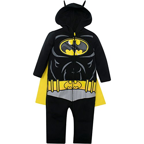 Warner Bros. Justice League Batman Baby Boys Hooded Costume Coverall & Cape (24 Months) -