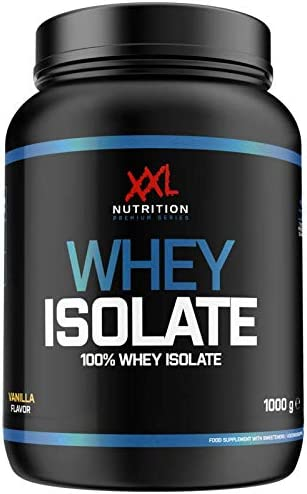 XXL Nutrition Whey Isolate | Reines Whey Protein Isolat 93% Eiweiß (Schokolade 1000g)