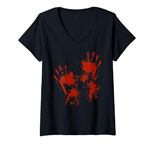 Womens Lazy Halloween Costume - Bloody Hands Zombie