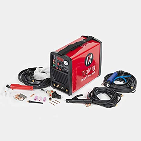 TIGMIG - TM233MIX - Soldador Inverter 3 en 1, multiproceso de TIG, cortador de plasma, soldador de MMA, tecnología IGBT