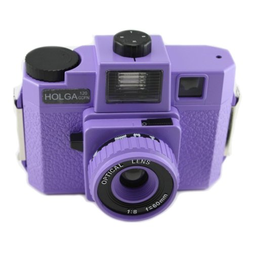 Holga 120GCFN Purple with Glass Lens and Colored Flash Film Camera by Holga