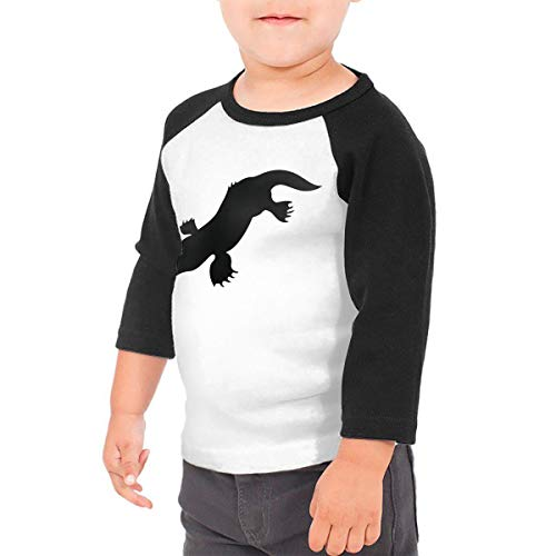 Unisex Baby Duck Billed Platypus Toddler's O Neck Raglan 3/4 Sleeve Baseball T Shirt for 2-6 Boys Girls Black]()