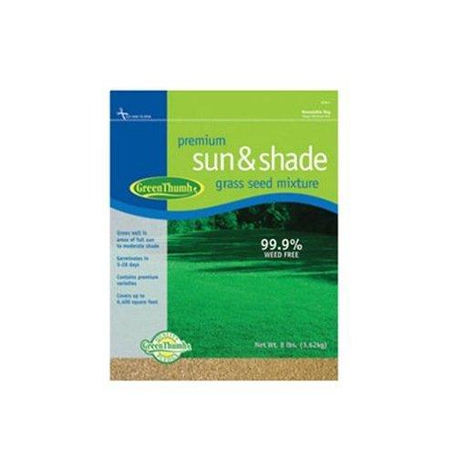 Barenbrug USA Green Thumb GT8PRSS Premium Sun and Shade Grass Seed, 8-Pound