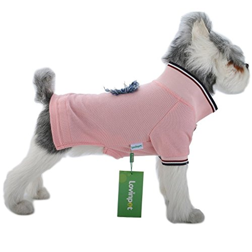 (LovinPe Dog Clothes, Stripe Dogs Pajamas, Dog Apparel, Dog Polo Shirt Cotton Outdoor & Indoor Dogs Clothes Pajamas Pet Clothes Apparel Soft Comfort PJS)