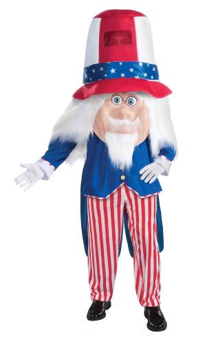 [Forum Parade Pleasers Uncle Sam Costume, Red/Blue, Standard] (Uncle Sam Halloween Costumes)