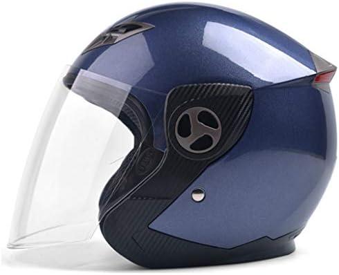 NJ ヘルメット- 電動オートバイのヘルメットの男性と女性の四季の防曇ヘルメット (色 : Jasmine gray, サイズ さいず : 35x25x23cm)