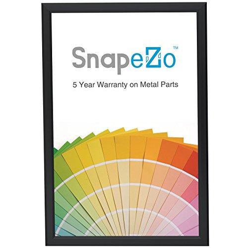 "SnapeZo Diploma Frame 11x17 Inch, Black 0.77"" Aluminum Profi"