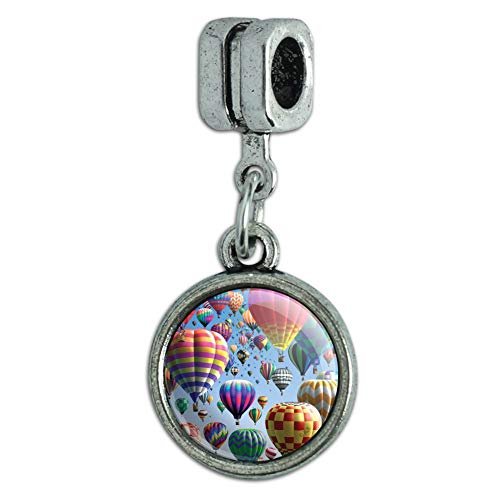 GRAPHICS & MORE Hot Air Balloon Festival Up in The Air Italian European Style Bracelet Charm Bead