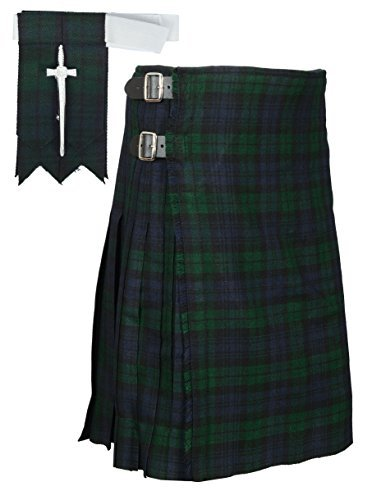 (Traditional Black Watch Tartan Kilt (Belly Button 34))