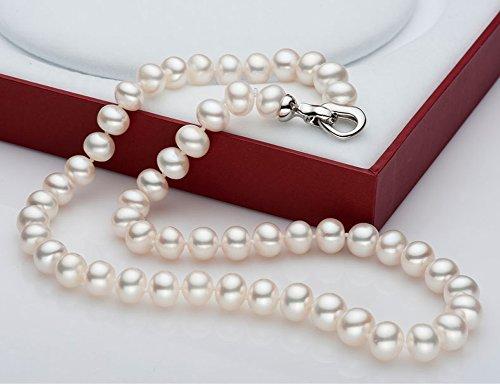 paialco-Collier Femme-Perles d'eau douce de culture blanc Off rond 8-9mm, 45,7cm