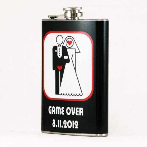 (Custom Printed 8oz Hip Flask, Personalized with your Picture)