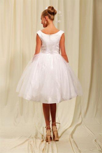 Elfenbein Brautkleider Kurze Hochzeitskleid Hochzeitskleider Halsausschnitt Honig BRIDE GEORGE mit rundem Einfache Abendkleid gfqq6R