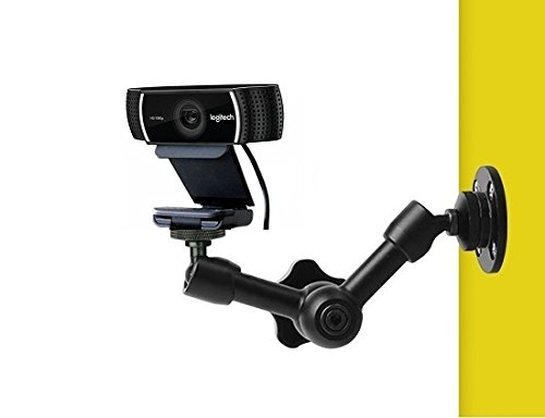 7 Inch Wall,Tree Articulating Magic Arm Mount Holder Stand for Logitech Brio 4K, C925e,C922x,C922,C930e,C930,C920,C615 Webcam