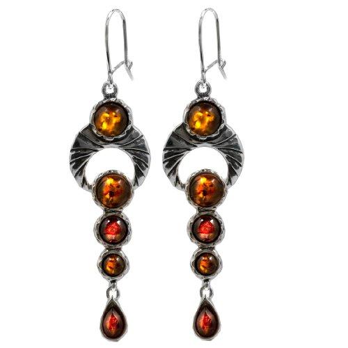 Amber-Sterling-Silver-Drop-Earrings