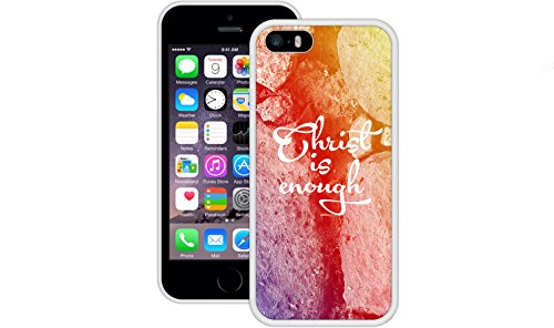 Christus ist genug | Christlich | Handgefertigt | iPhone 5 5s SE | Weiß TPU Hülle