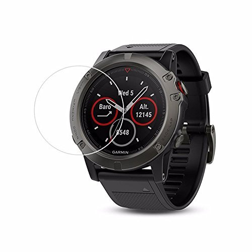 iRECCO-Tempered Glass Screen Protector for Garmin Fenix 5X Smartwatch.