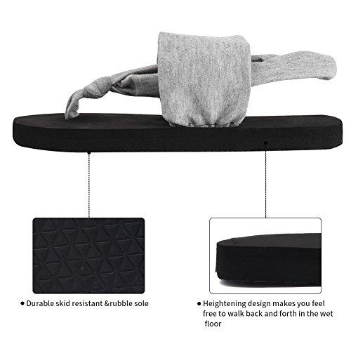 Gray Women Outdoor mat Meditation Flop Flip Studio Womens CIOR Yoga Shoes Sling Sandals Back qwSSO7