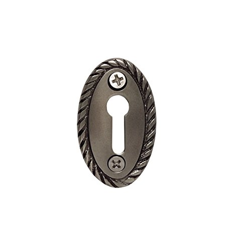 Nostalgic Warehouse Rope Keyhole Cover, Antique Pewter ()