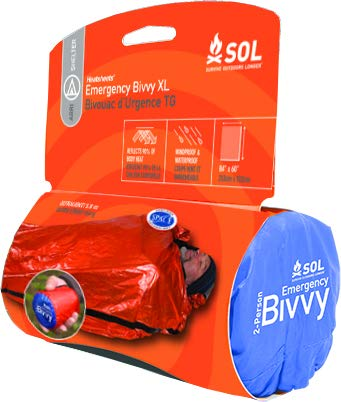 Emergency Shelter - S.O.L Survive Outdoors Longer 90 Percent Heat Reflective Durable Lightweight 2-Person Emergency Bivvy, Orange