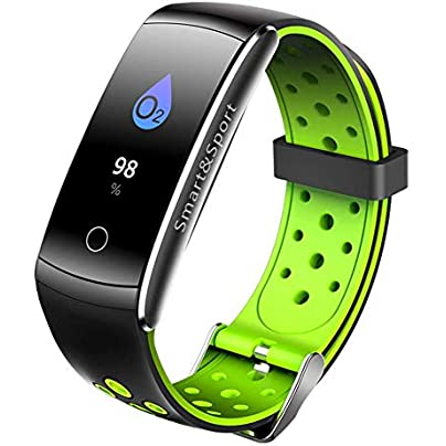 Fashion Color Display Wristband Bracelet Blood Pressure Fitness Tracker Smart Wristband Heart Rate Monitoring Waterproof Watch Estimated Price £103.82 -