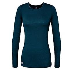 Sivvan Women's Comfort Long Sleeve T-shirt Underscrub Tee - S8500 - Caribbean Blue - S