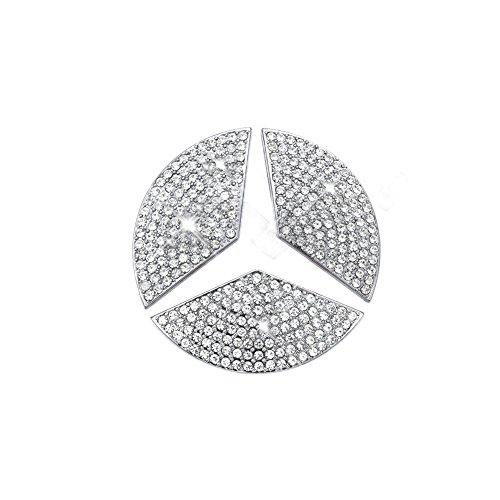 Car Steering Wheel Decorative Stickers For Mercedes-Benz 2014A, B, 2014C, 2014E, S, CLA, GLA, GL, ML, GLE, GLC,GLK Class(Diameter 45mm)
