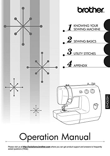 Brother LS-2000 Sewing Machine Owners Instruction Manual [Plastic Comb] There and Back (Brother Ls 2000 Sewing Machine)