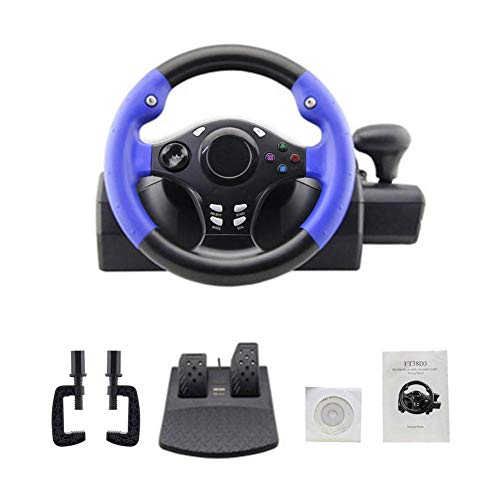 Gaming Racing Steering Wheel and Pedals, Compatible with PS4/PS3/PC/XBOX-ONE/XBOX-360/Switch/Android, Compatible with Multiple Platforms, Enjoy Multi-Style Racing Experience 250mm (9.84 inch) (Steering Set Xbox360)