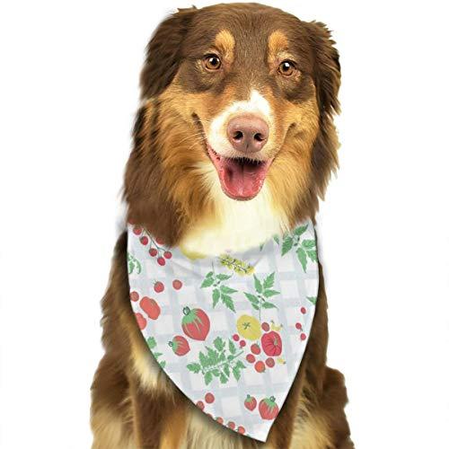 Kitty Treats Cookbook - Pet Scarf Dog Bandana Bibs Triangle Head Scarfs Tomato Harvest Accessories for Cats Baby Puppy