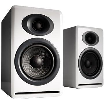 Image of Bookshelf Speakers Audioengine P4 White (Pr.) 2-Way Passive Bookshelf Speakers (AP4W)