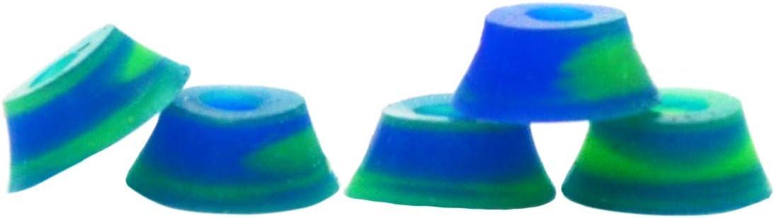 Medium 71A Teak Tuning Bubble Bushings Pro Duro Series in Teal and Orange Swirl - Custom Molded Fingerboard Tuning