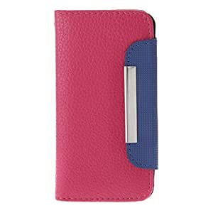 GHK - PU Wallet Full Body Case with Card Slot and Matte Back Cover for iPhone 5/5S (Assorted Colors) , White