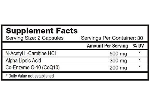 Nature's Lab CoQ10 Alpha Lipoic Acid Acetyl L-Carnitine HCL Supplement, 60 Count by Nature's Lab (Image #1)