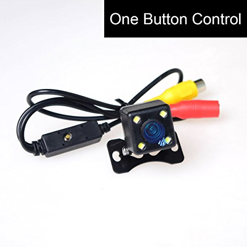 E-Kylin Car HD Universal Backup Camera [One Button Control] LED Night Vision: NTSC/PAL & Front View(Non-Mirrorred)/Reverse View(Mirrored) & Parking Lines/No Parking Lines Switch - ()