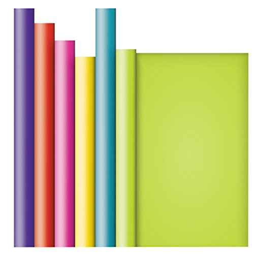 (Jillson Roberts 6 Roll-Count All-Occasion Solid Color Gift Wrap Available in 10 Different Assortments, Perfectly Primary)