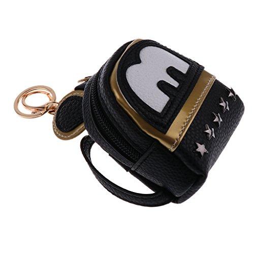 Prettyia Lovely Girl Doll Bag Backpack for 1/4 1/6 BJD Mell Chan 16inch Salon Doll Black