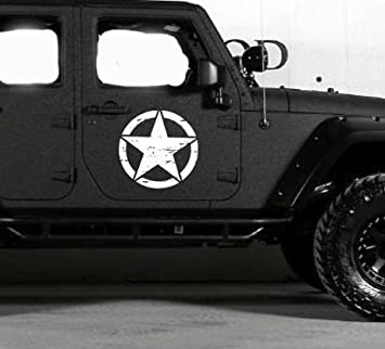 Jeep Logo w/ Guns { WHITE } PREMIUM Decal 5 inch | Sig | Glock