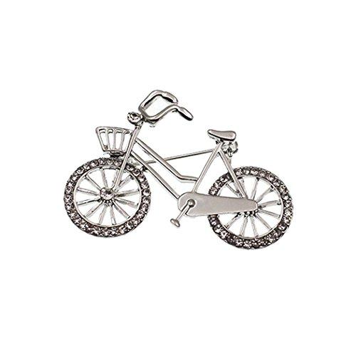 Pin Bike Brooch (Zoylink Bicycle Brooch Clothes Brooch Stylish Bike Shape Rhinestone Brooch Scarf Clip)