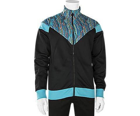 (PUMA Men's PUMA X COOGI Track Jacket Puma Black/Blue Atoll Large)