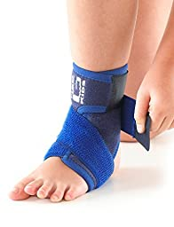 NEO G Kids Ankle Support with Figure of 8 Strap - Medical Grade Quality HELPS with symptoms of juvenile arthritis, ankle strains, sprains, pain, instability, plantarflexion - ONE SIZE - Unisex Brace