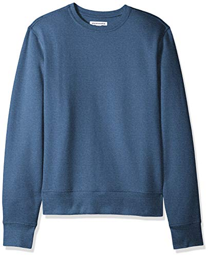 Amazon Essentials Men's Long-Sleeve Crewneck Fleece Sweatshirt, Blue Heather, X-Small