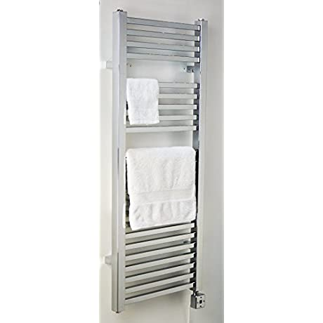 TOWEL WARMERS POWER THERMOSTAT 300 WATS 21 TUBES CHROME COLOR BOTHROOM AND KITCHEN Towel Rail Heated Towel Warmer Rack Wall Mount ENERGY SAVE