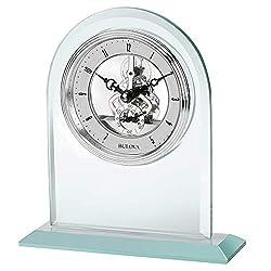 Bulova B5009 Clarity Tabletop Clock, Mineral Glass