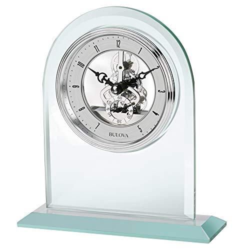 Bulova B5009 Clarity Tabletop Clock, Mineral ()